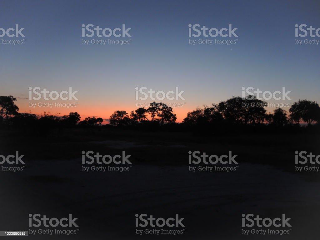 Afrikanischen Sonnenuntergang – Foto