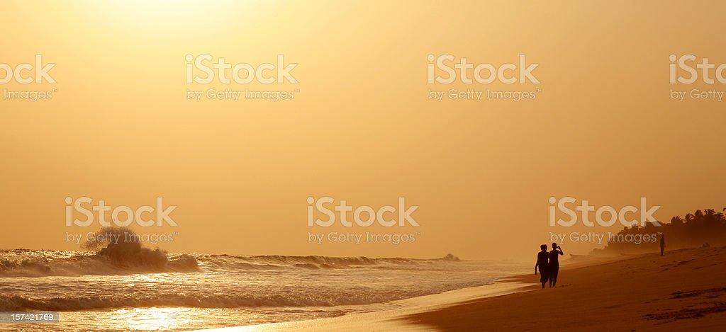 Pôr-do-sol africano - foto de acervo