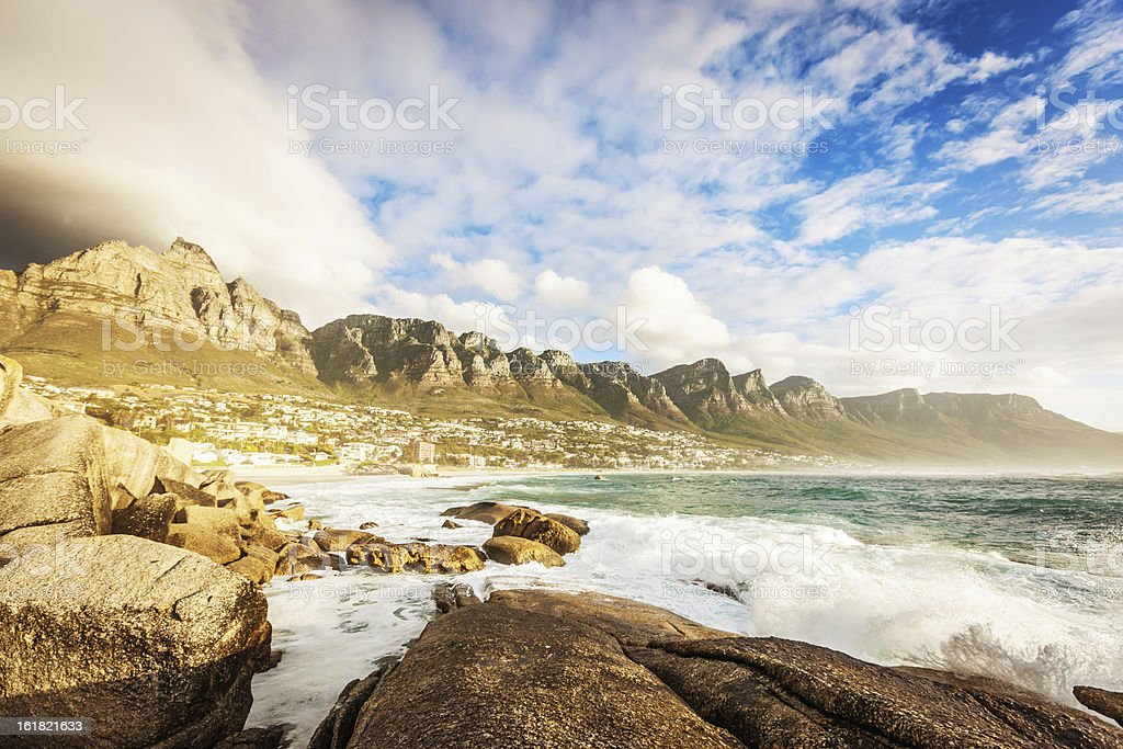 African Table Mountain,Cape Town royalty-free stock photo