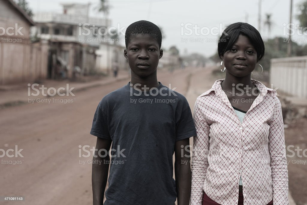 african teenagers royalty-free stock photo