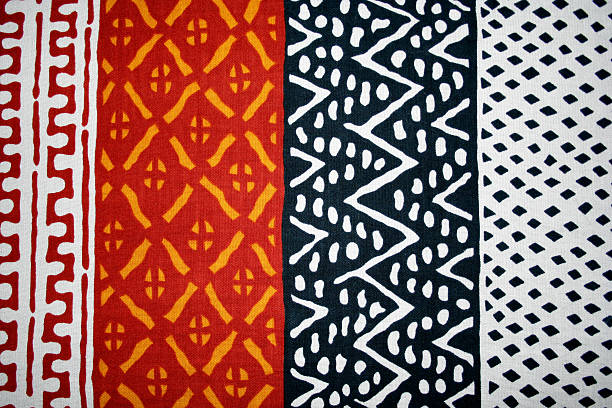 african textile - african culture stock photos and pictures