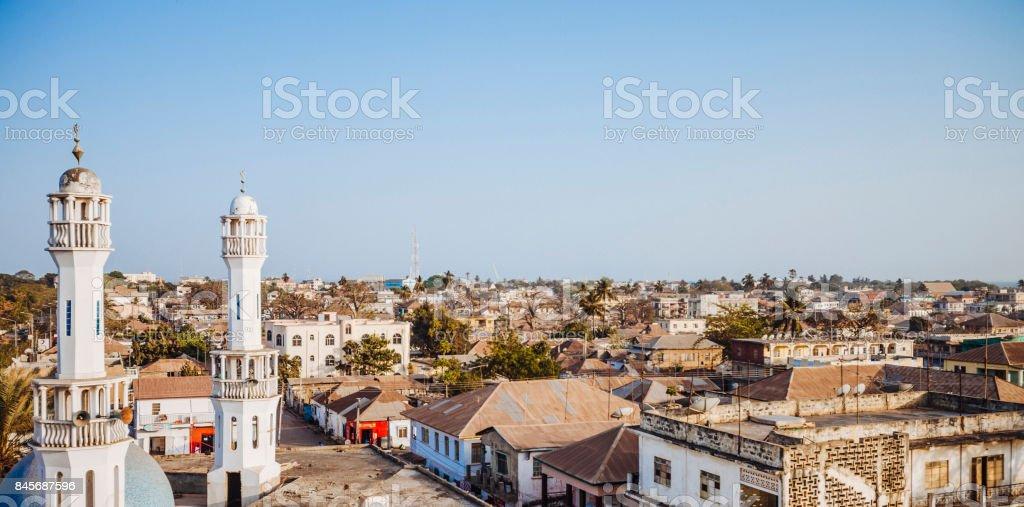 African town - Banjul, Gambia stock photo
