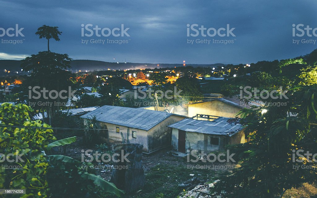 African town by night. royalty-free stock photo