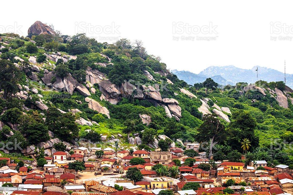 African town. Dassa-Zoume, Benin. stock photo