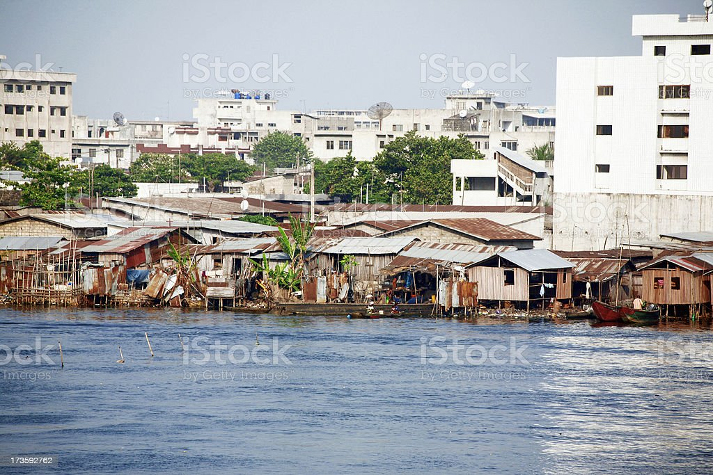 african town on the riverside royalty-free stock photo
