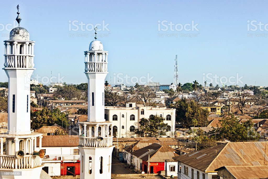 African town. stock photo