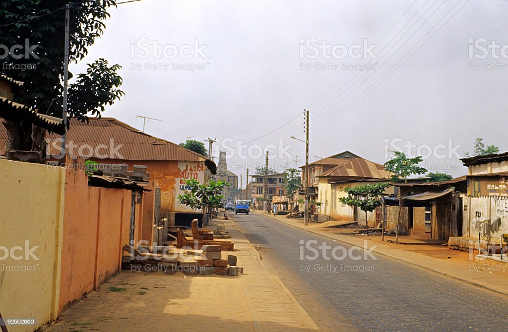 african town street royalty-free stock photo