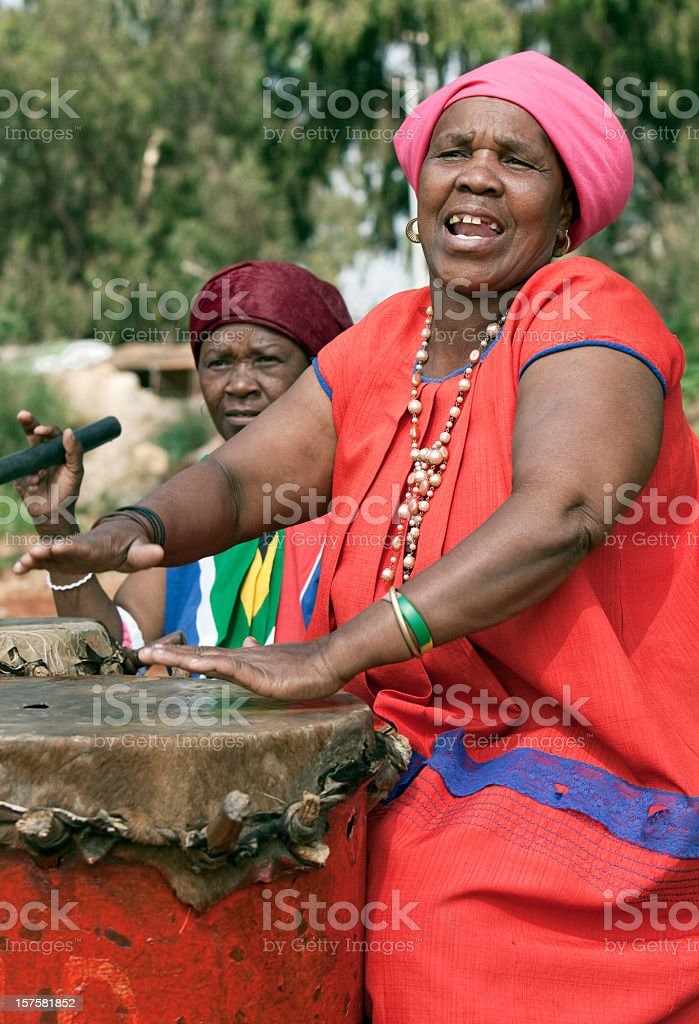 African Traditional Drums stock photo