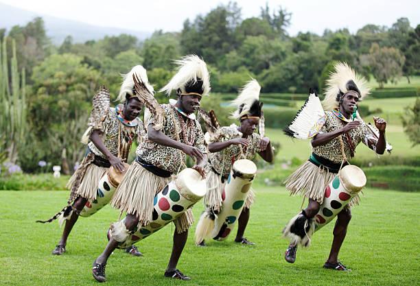 African traditional folk dance at Kenya stock photo
