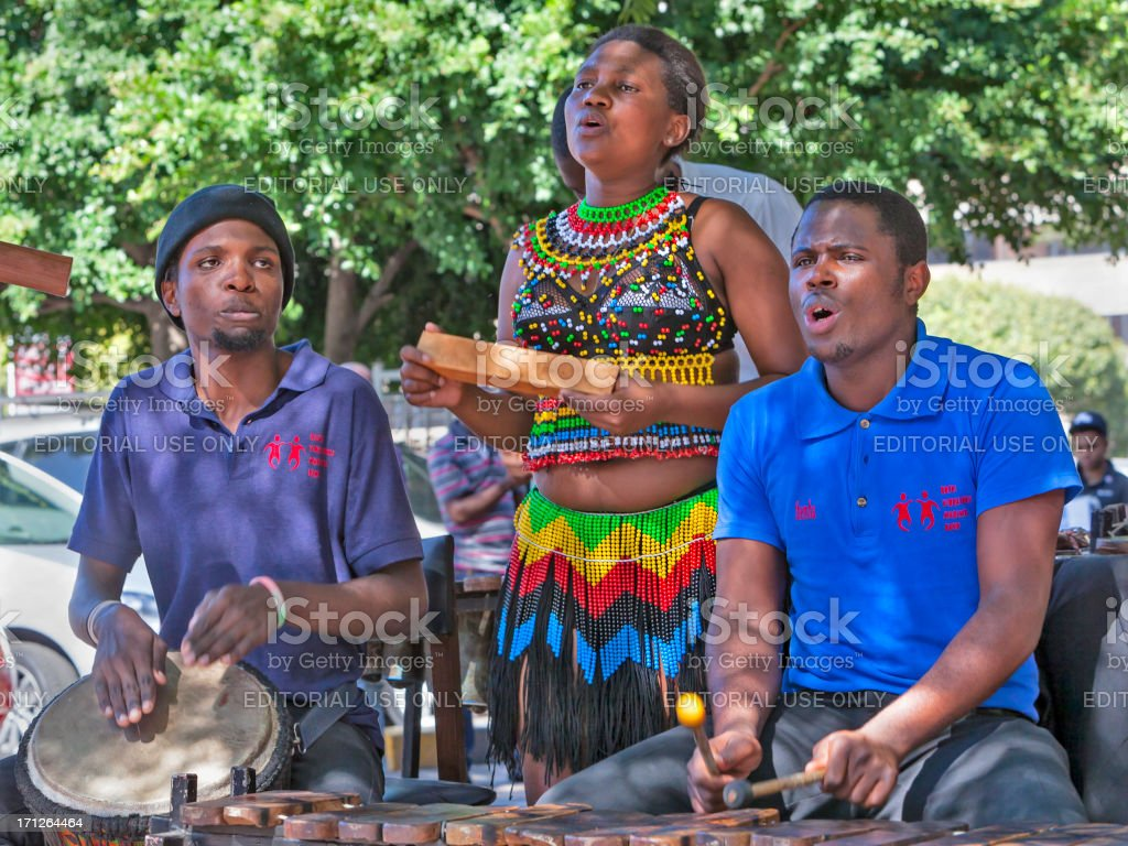 African Traditional Singing stock photo