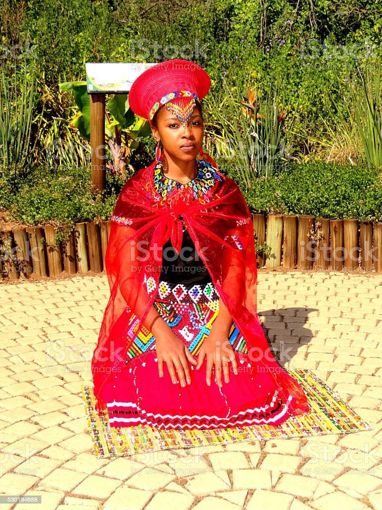 Johannesburg, South Africa - February 12, 2016: African Traditional Woman stock photo