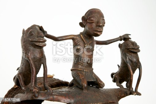 istock African tribal art on white background 182870246