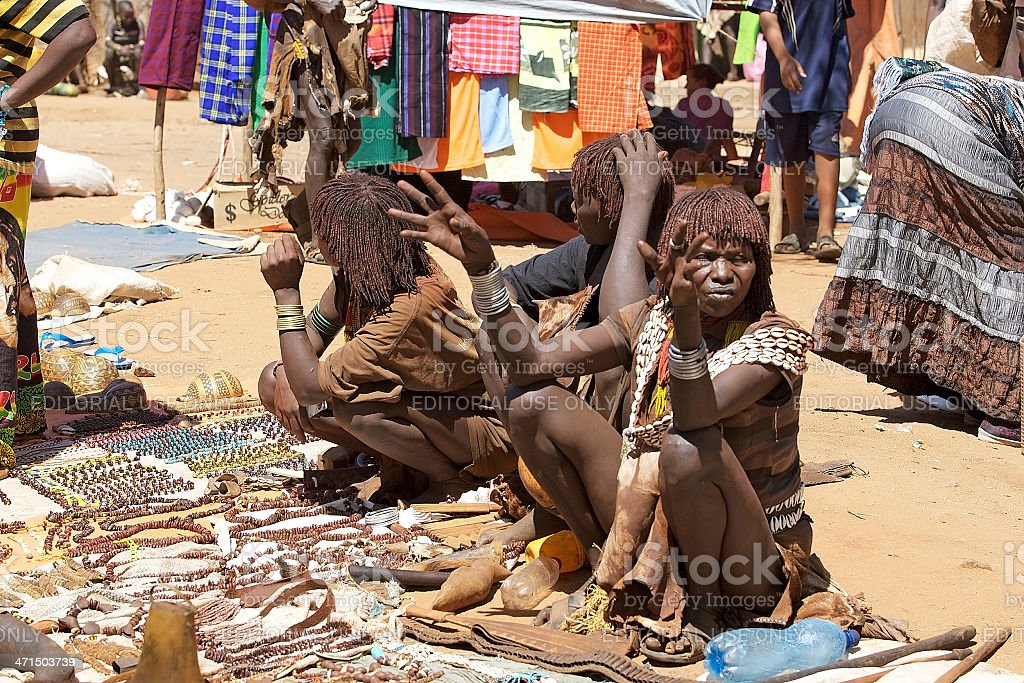 african tribal market royalty-free stock photo