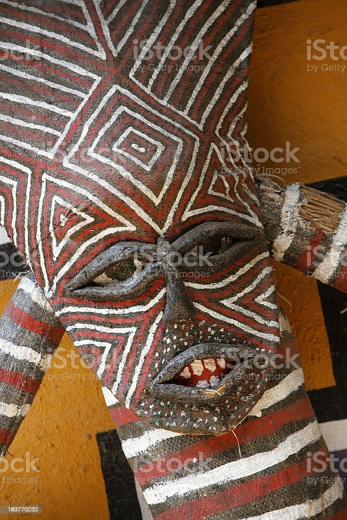 African tribal mask from Zambia Africa stock photo