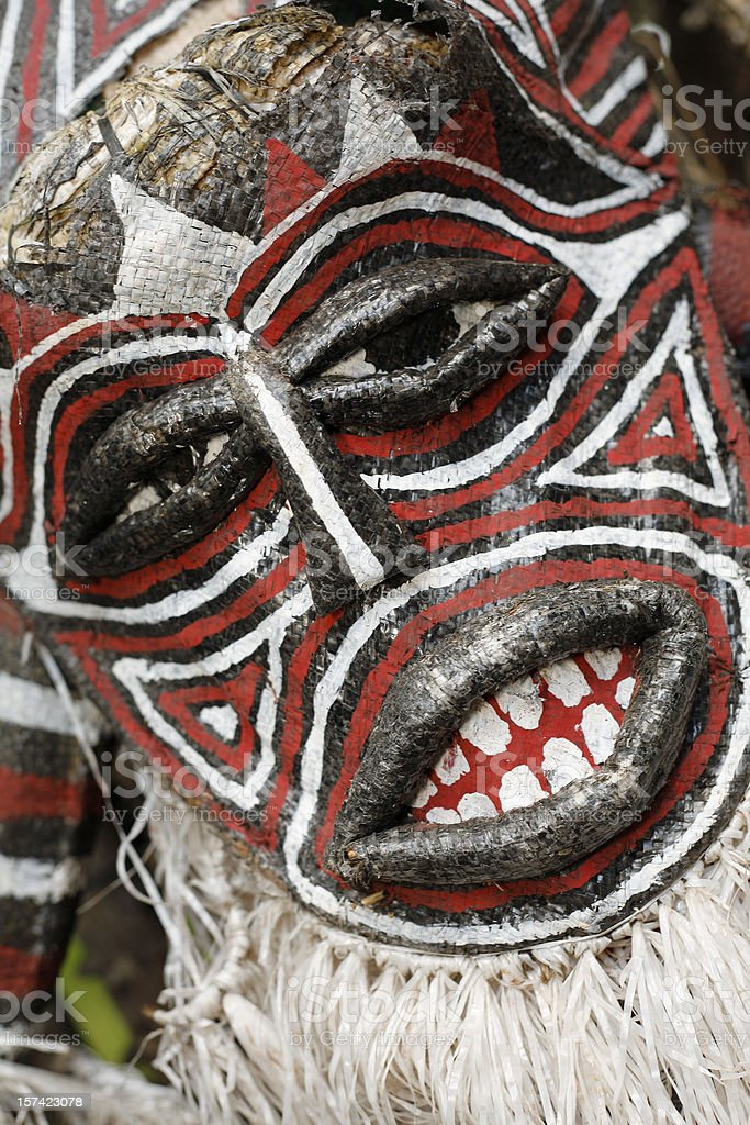 African tribal mask from Zambia stock photo