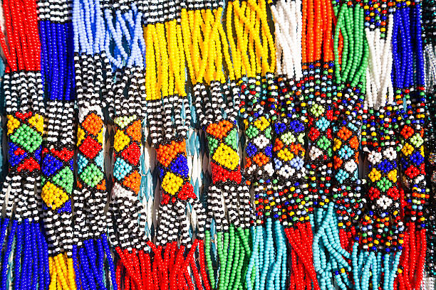 African Tribal Necklaces stock photo