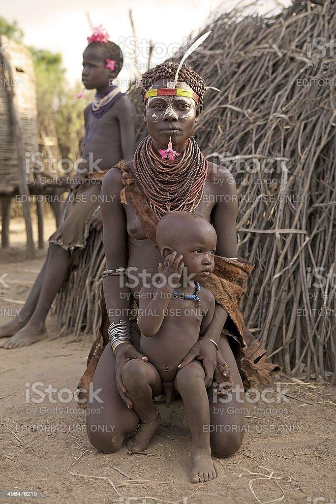 African tribal woman stock photo