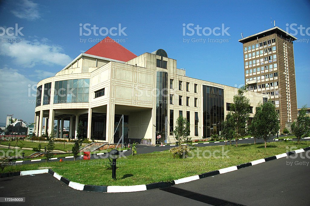 African Union Buildings in Ethiopia royalty-free stock photo