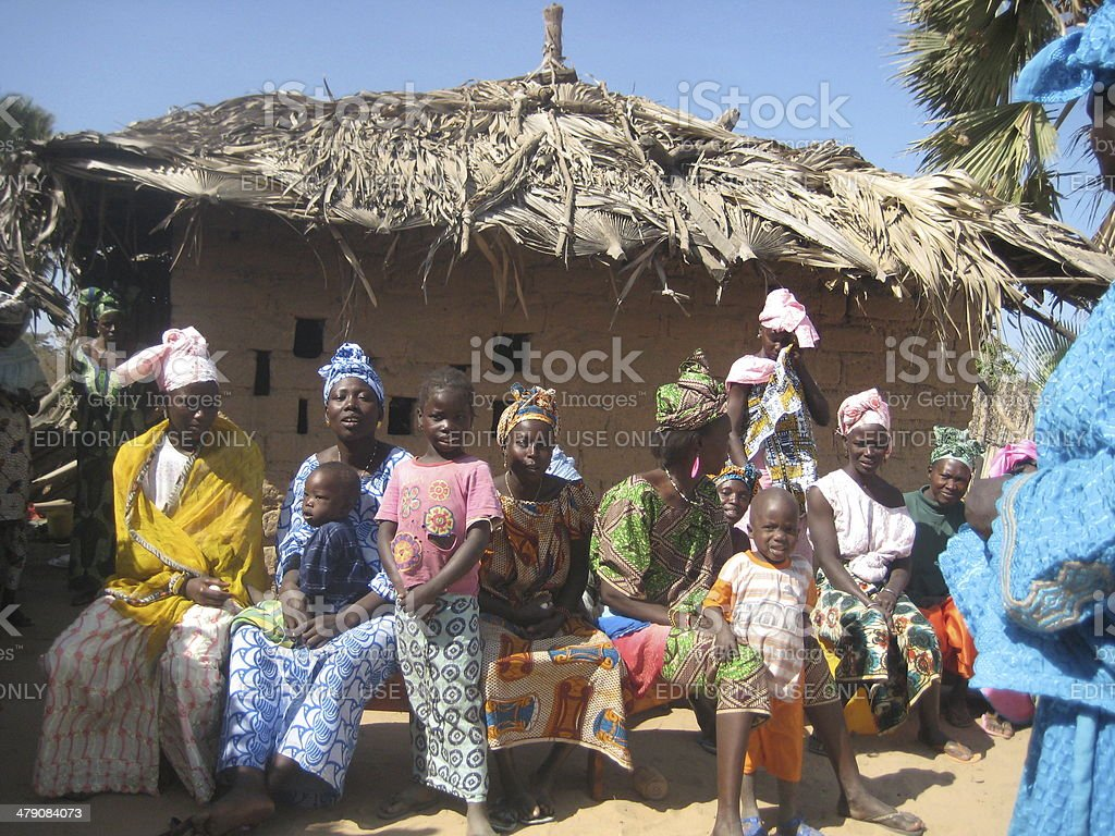 African village life stock photo