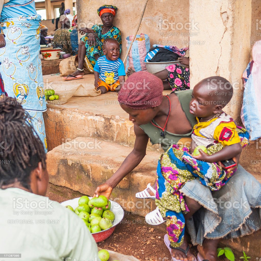 \'Tata Somba, Benin - September 6, 2012: Colorful market in small...