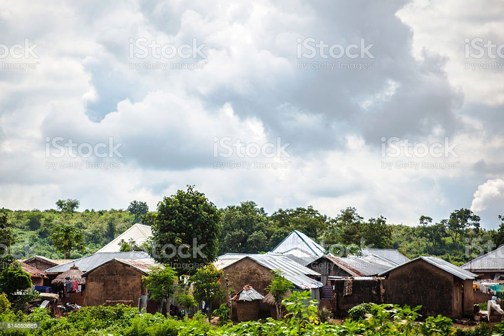 African village near Abuja, Nigeria. stock photo