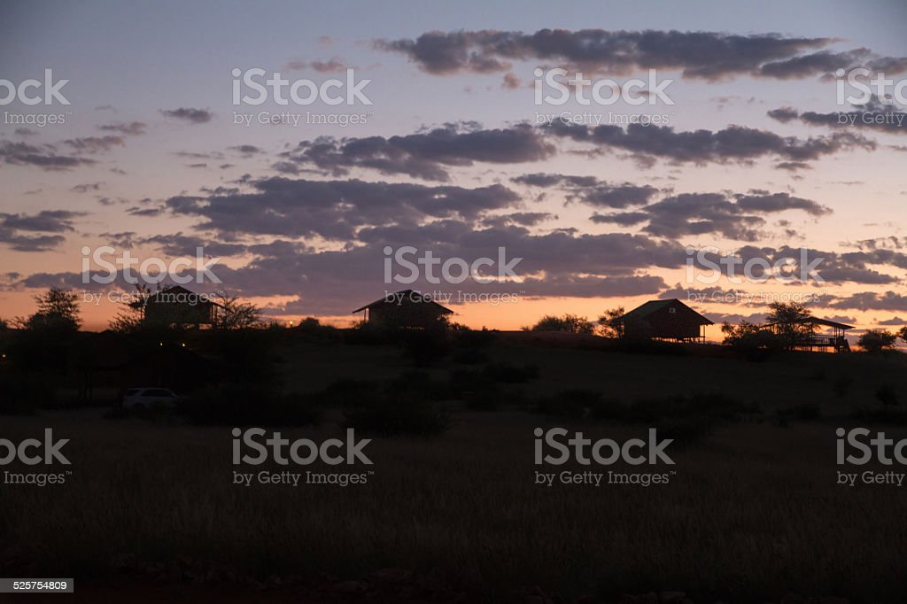 African village stock photo
