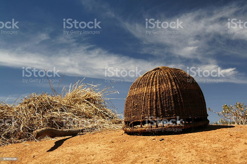 African village roof stock photo