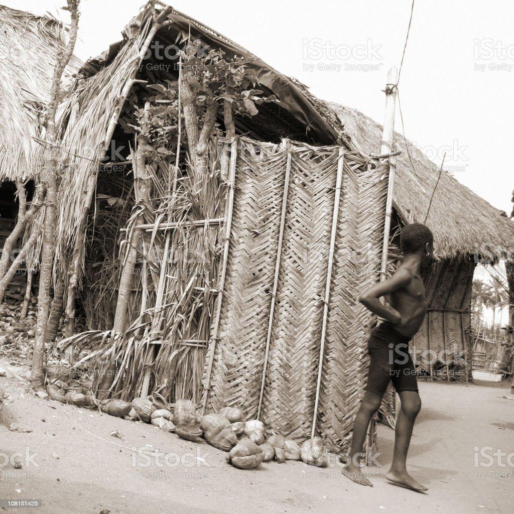 african village scene royalty-free stock photo