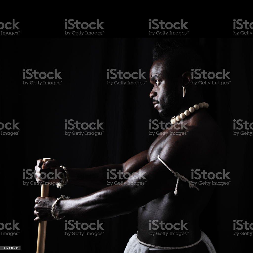 African Warrior stock photo