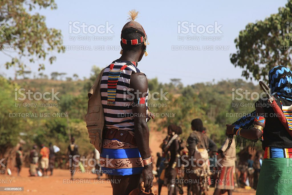 African Warrior royalty-free stock photo