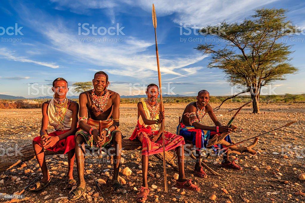 afrikanische Krieger von Samburu, central Kenia, Osten und Afrika – Foto