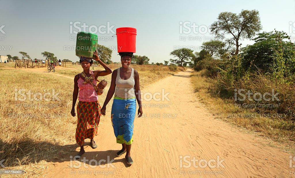 African water Ladies stock photo