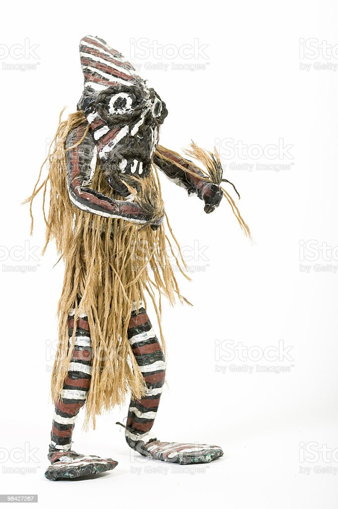 African witch doctor doll royalty-free stock photo