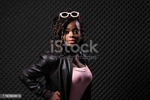 istock African Woman  Afro hair 1162934514
