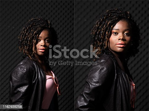 istock African Woman  Afro hair 1162935258