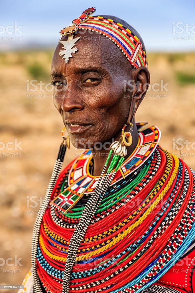 African woman from Samburu tribe, Kenya, Africa – Foto