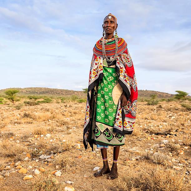 african woman from samburu tribe, kenya, africa - kenyan culture stock photos and pictures