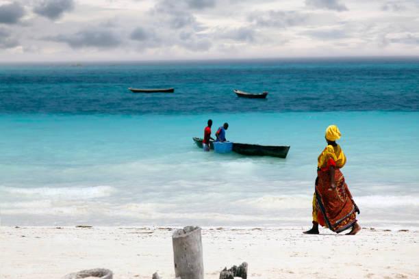 african woman in traditional dress - fishman imagens e fotografias de stock