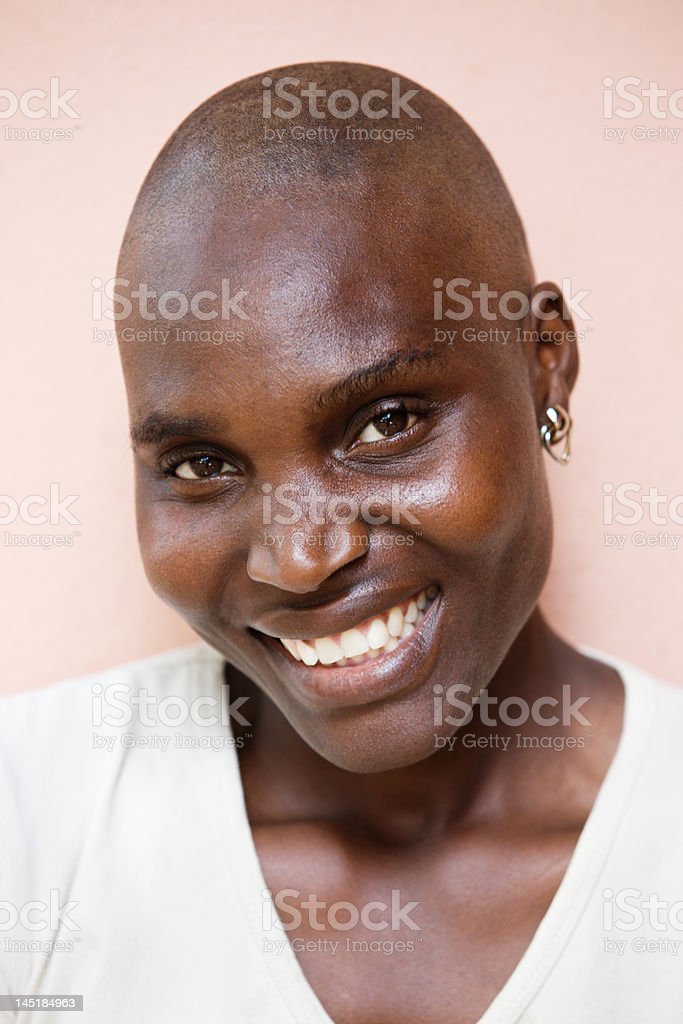 African woman portrait stock photo