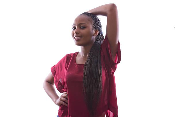 アフリカのポーズを取る女性 ストックフォト
