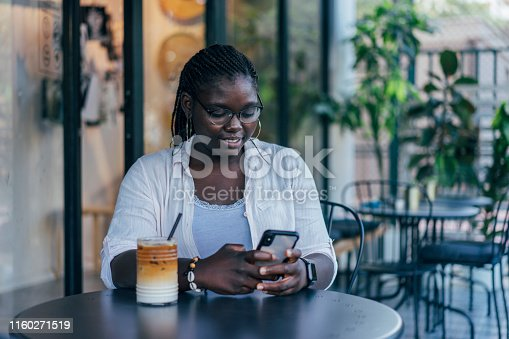 istock African Woman Using Smartphone 1160271519