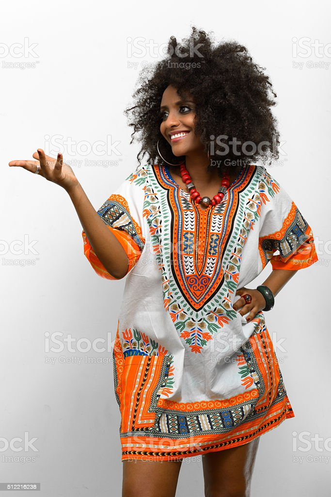African Woman Wearing Traditional Dress Stock Photo & More
