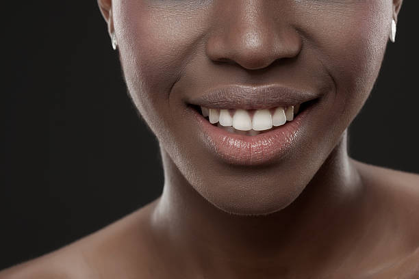 African Woman With Perfect Smile stock photo