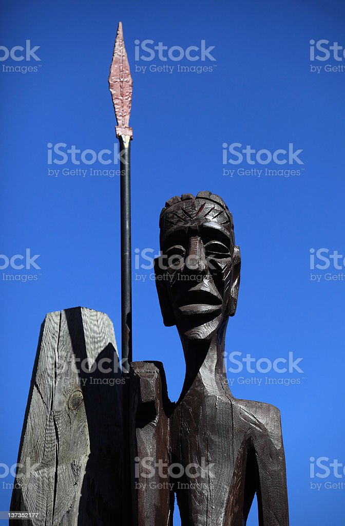 African wooden statue stock photo