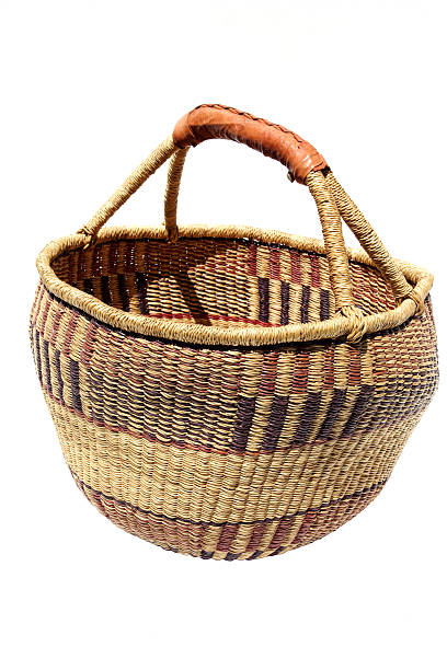 african woven basket stock photo