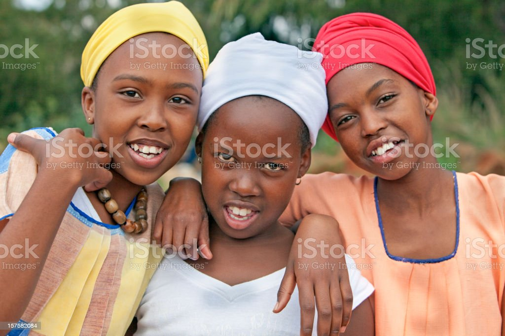African Young Girls royalty-free stock photo