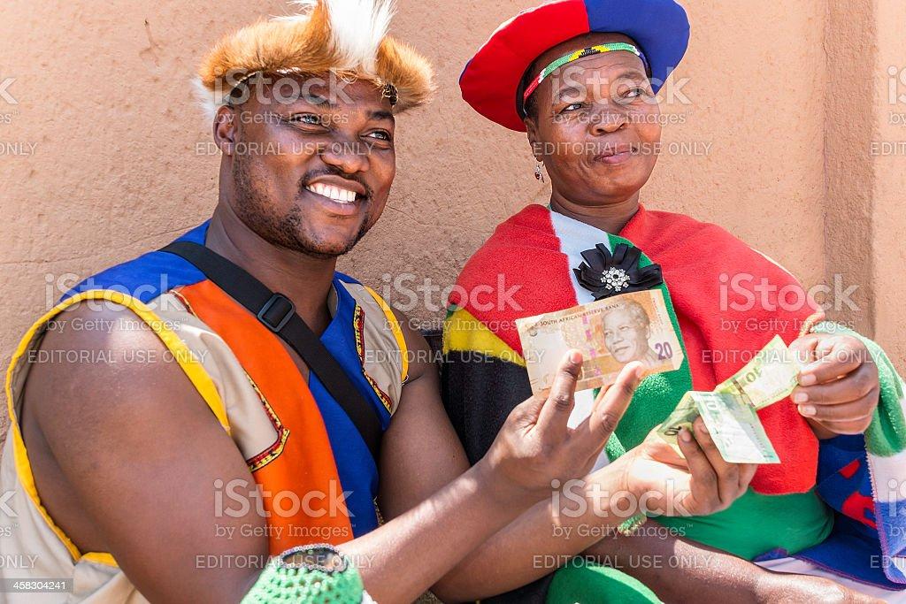 African zulu man and woman stock photo