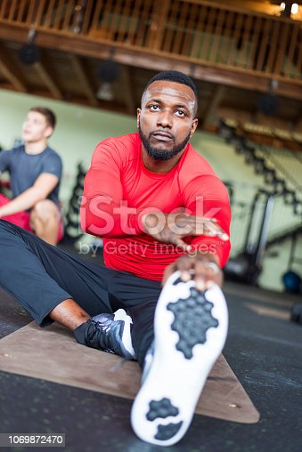 1069872470istockphoto African-American athlete in gym 1069872470