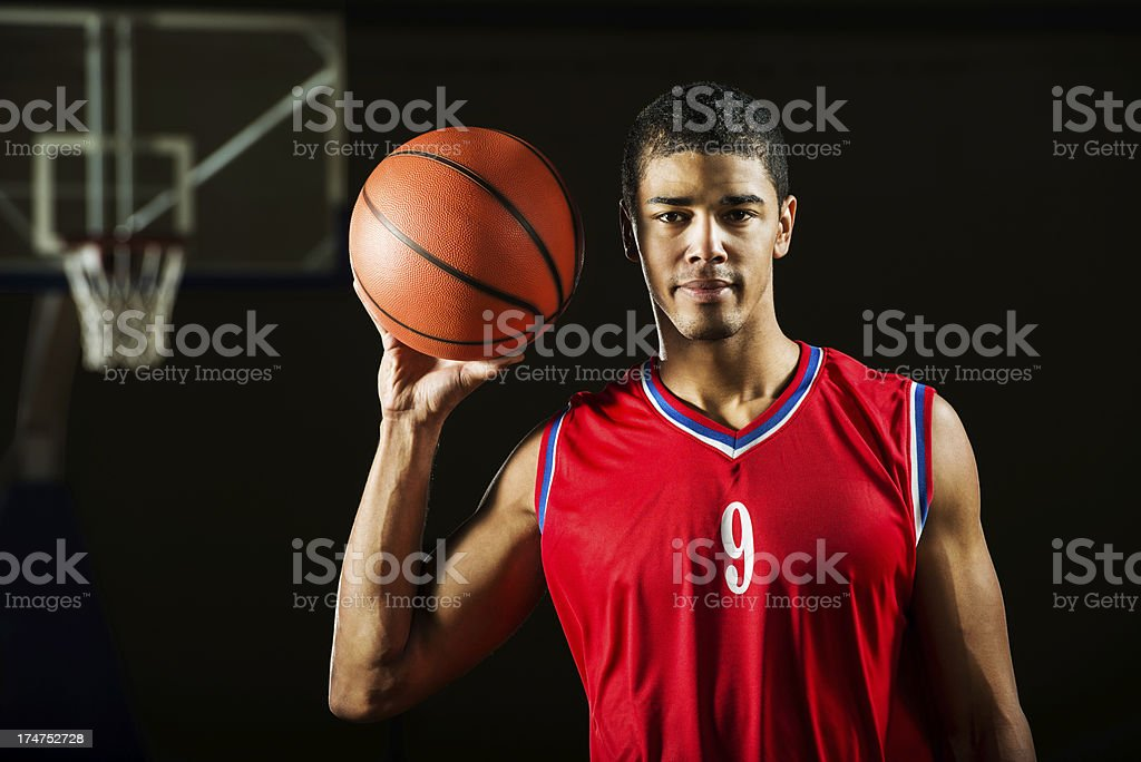 African-American basketball player. royalty-free stock photo