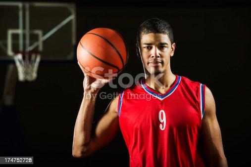 istock African-American basketball player. 174752728